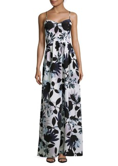 Parker Floral-Print Sweetheart Gown