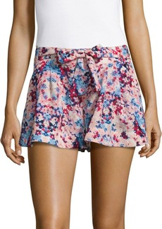 Parker Floral Printed Pleated Shorts