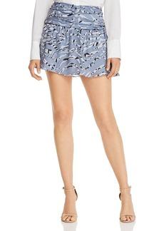 Parker Flounced Zebra-Print Mini Skirt