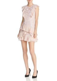 Parker Gabriel Ruffle-Trimmed Lace Dress