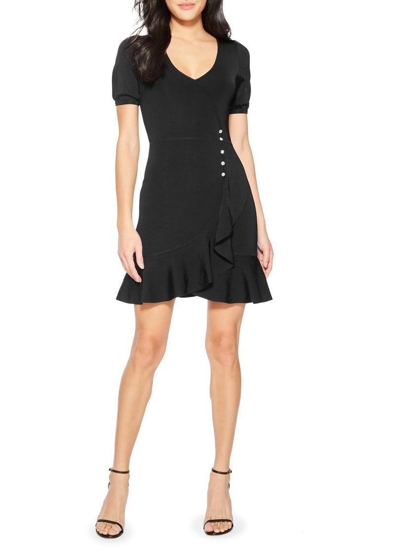 Parker Galice Faux Wrap Minidress