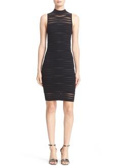 Parker 'Gemma' Shadow Stripe Ribbed Knit Body-Con Dress
