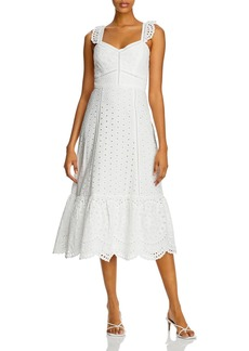 Parker Genevieve Eyelet Embroidered Dress