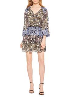 Parker Gladis Python Print Silk Georgette Minidress