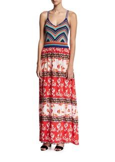 Parker Goldie Knit Combo Maxi Dress