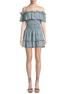 Parker Hali Silk Off-the-Shoulder Mini Dress