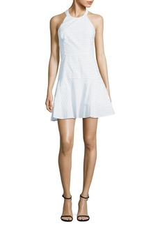 Parker Halter Cotton Fit-&-Flare Dress