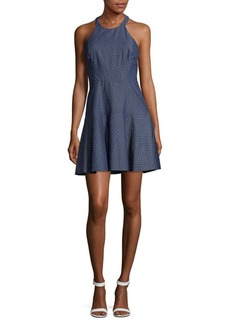 Parker ??hambray Fit And Flare Dress