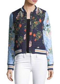Parker Herve Floral-Printed Quilted Bomber Jacket