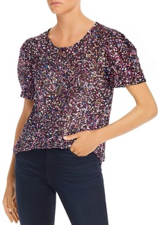 Parker Isaac Rainbow Sequin Top