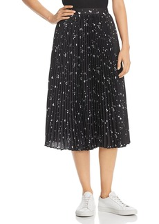 Parker Jacinta Pleated Heart-Print Skirt