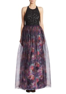 Parker Janet Sequined Silk Gown