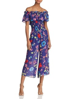 Parker Janice Off-the-Shoulder Floral Jumpsuit