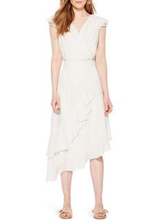 Parker Jannie Stripe Asymmetrical Hem Dress
