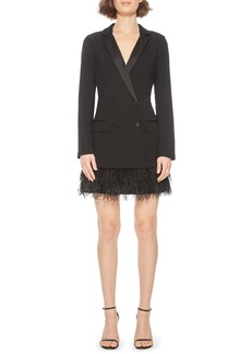 Parker Jax Feather Fringe Tuxedo Minidress
