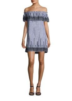 Parker Jeanette Embroidered Off-The-Shoulder Dress