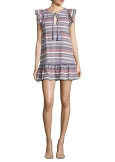 Parker Jerilyn Striped Cotton Mini Dress