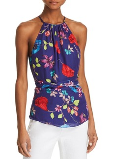 Parker Jill Tie-Waist Floral-Print Top
