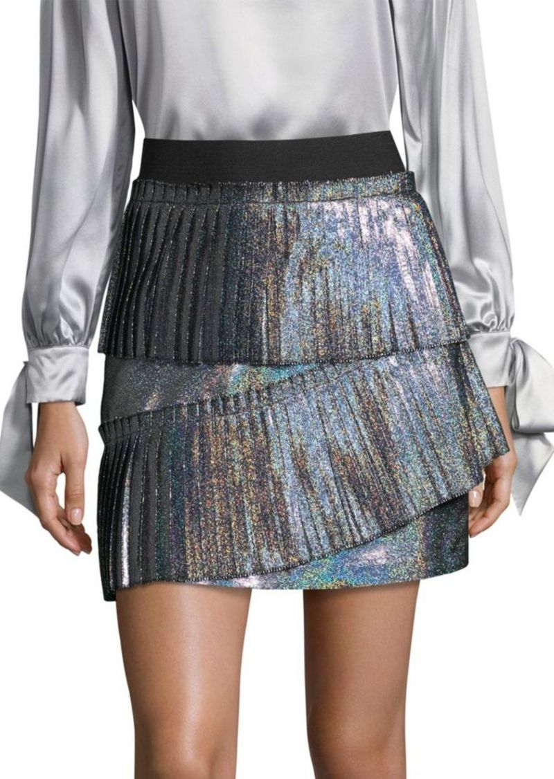 54b192aa0 Parker Joss Iridescent Pleated Skirt | Skirts