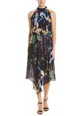 Parker Julieta Silk-Blend Midi Dress