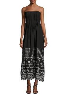 Parker June Strapless Embroidered Dress