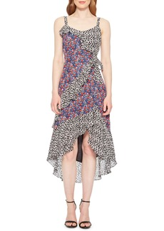 Parker Kathy Print Ruffle High/Low Dress