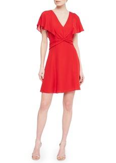 Parker Katie Flutter Silk Minidress