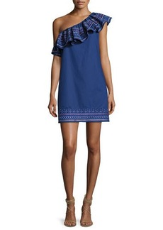Parker Katrina One-Shoulder Embroidered Dress