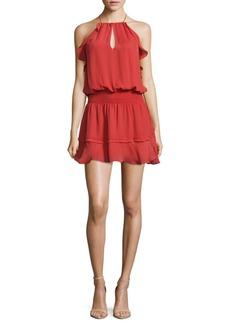 Parker Keyhole Ruffle Solid Dress