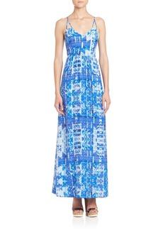 Parker Kisa Silk Print Maxi Dress