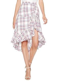 Parker Kylie Ruffle Linen & Cotton Skirt