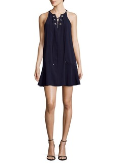Parker Lace-Up Shift Dress