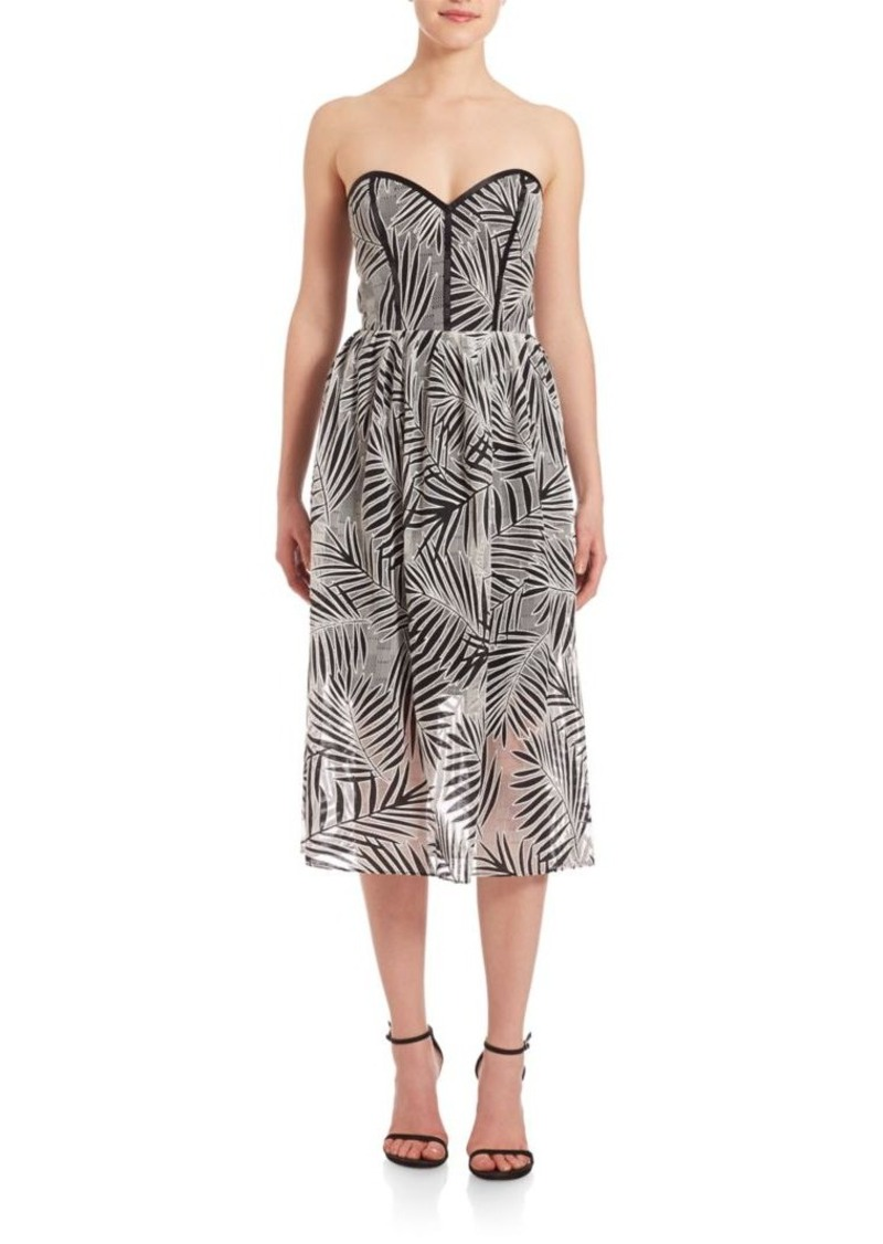 Parker Leaf-Print Dress