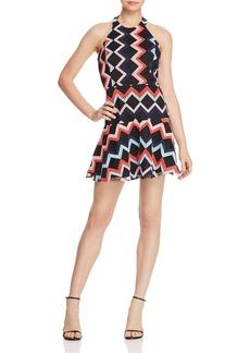 Parker Leona Embroidered Halter Dress