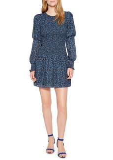 Parker Lilly Puff Sleeve Floral Georgette Minidress