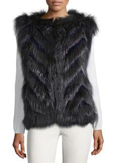 Parker Lola Chevron Rex Rabbit Fur Vest