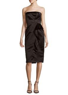 Parker Lourdes Ruffled Strapless Gown