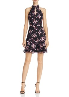 Parker Luana Floral-Embroidered Tiered-Hem Dress