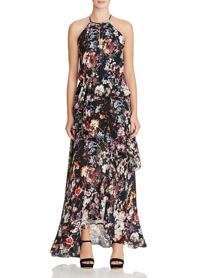 949cfa6f382 Parker Parker Luciana Tiered Floral Silk Maxi Dress