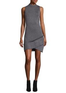 Parker Mace Sleeveless Fitted Metallic Knit Dress