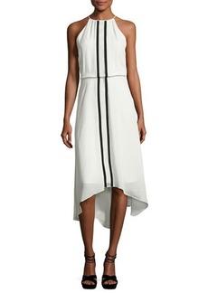 Parker Macedonia Sleeveless Contrast-Trim Midi Dress