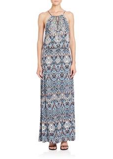Parker Madera Print Halter Dress
