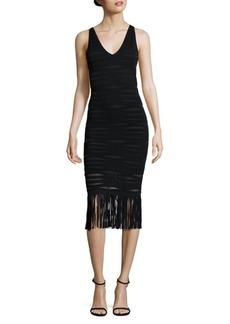 Parker Mae Knit Fringe Hem Dress