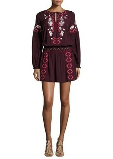 Parker Maeve Embroidered Blouson Dress