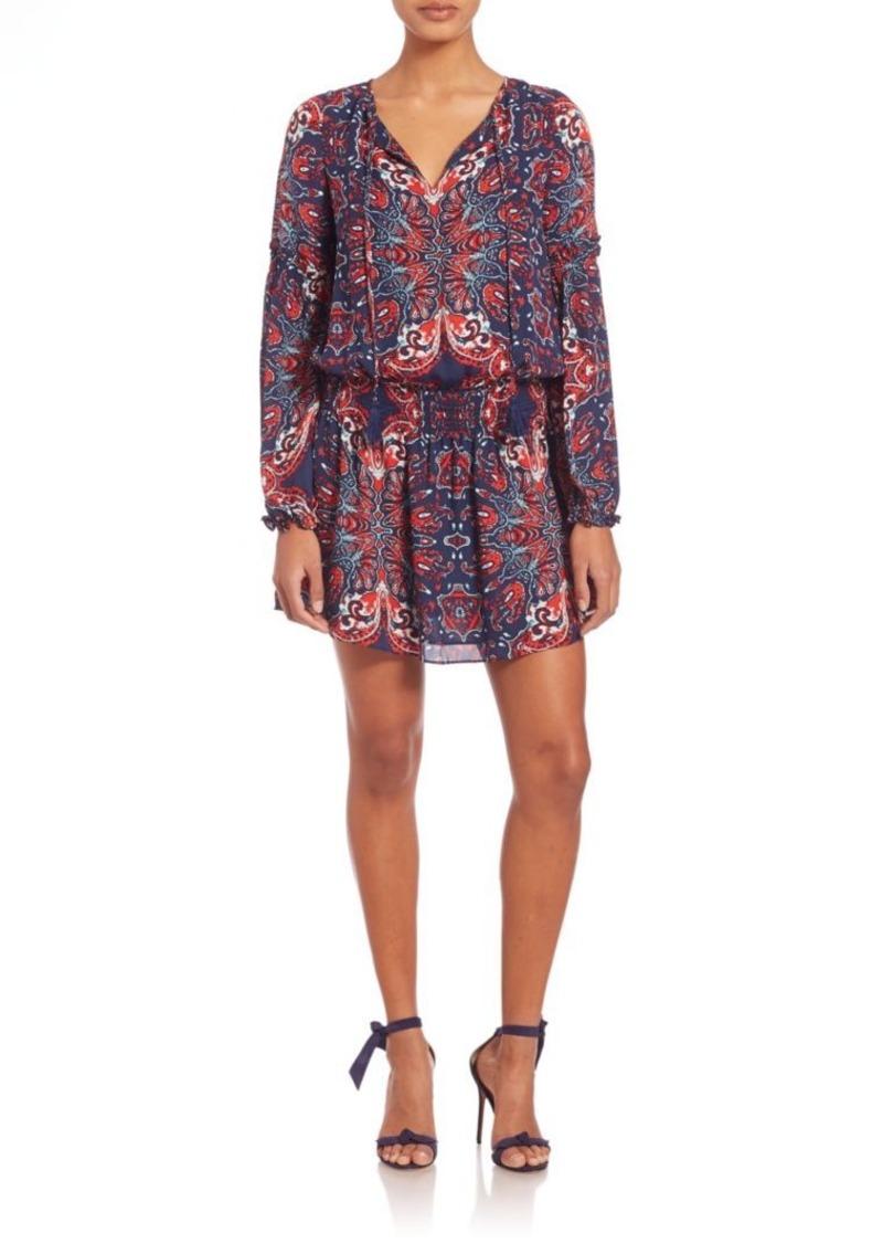 Parker Maeve Printed Silk Dropwaist Dress