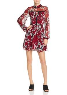 Parker Maje Floral-Print Silk Mini Dress