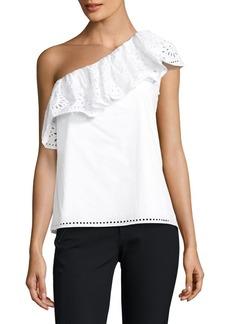 Parker Maple One-Shoulder Cotton Top