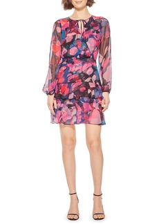Parker Marengo Long Sleeve Silk Minidress