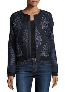 Parker Maverick Embellished & Embroidered Bomber Jacket