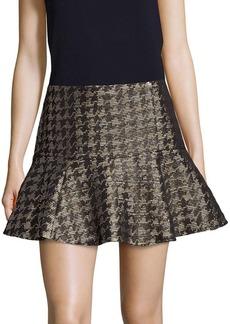 Parker Metallic Fit-&-Flare Skirt